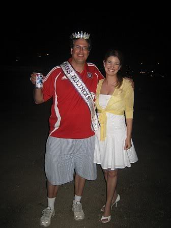 With Miss Illinois Nikki Kaapke.