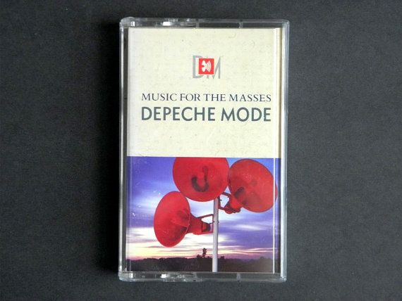 Depeche Mode Music For The Masses 1987 Cassette by RockofSages, $7.00