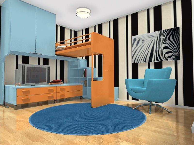 Zebra Kids Bedrooms