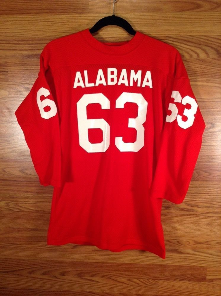 VINTAGE Alabama SOUTHERN ATHLETICS 60s 70\'S FoOTBALL JERSEY #63 ...
