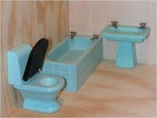 Lundby Lisa Puppenhaus Dollhouse Bathroom Badezimmer Einrichtung Vintage