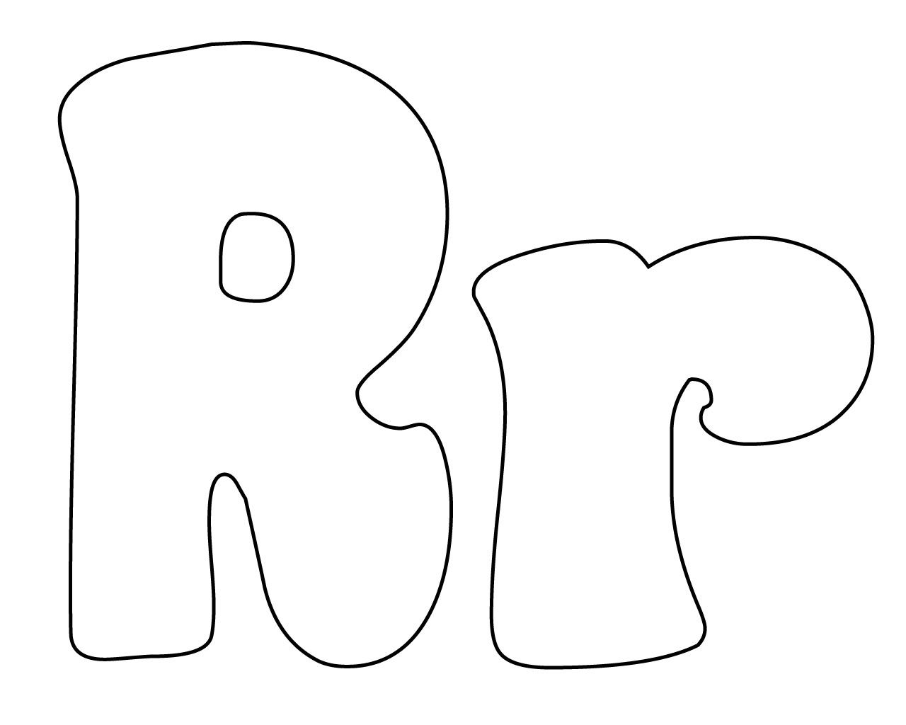 Letter R Coloring Pages For Toddlers