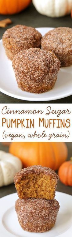 would use Vegan Butter instead of butter tho!!! ---Cinnamon sugar pumpkin muffins lightly sweetened with maple syrup {vegan, dairy-free, and 100 whole wheat}