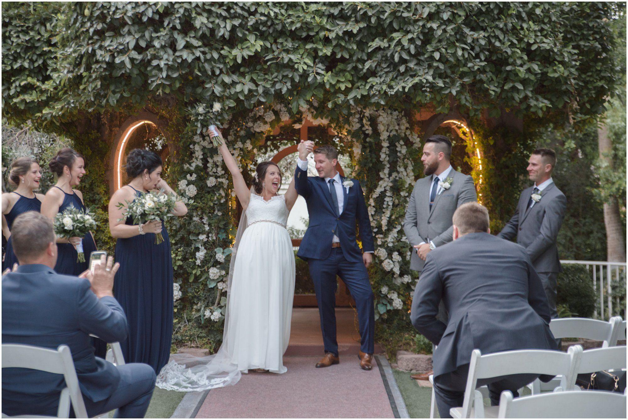 Ariane Rory Wedding At The Flamingo Hotel Casino Conservative Wedding Dress Las Vegas Wedding Venue Outdoor Las Vegas Wedding