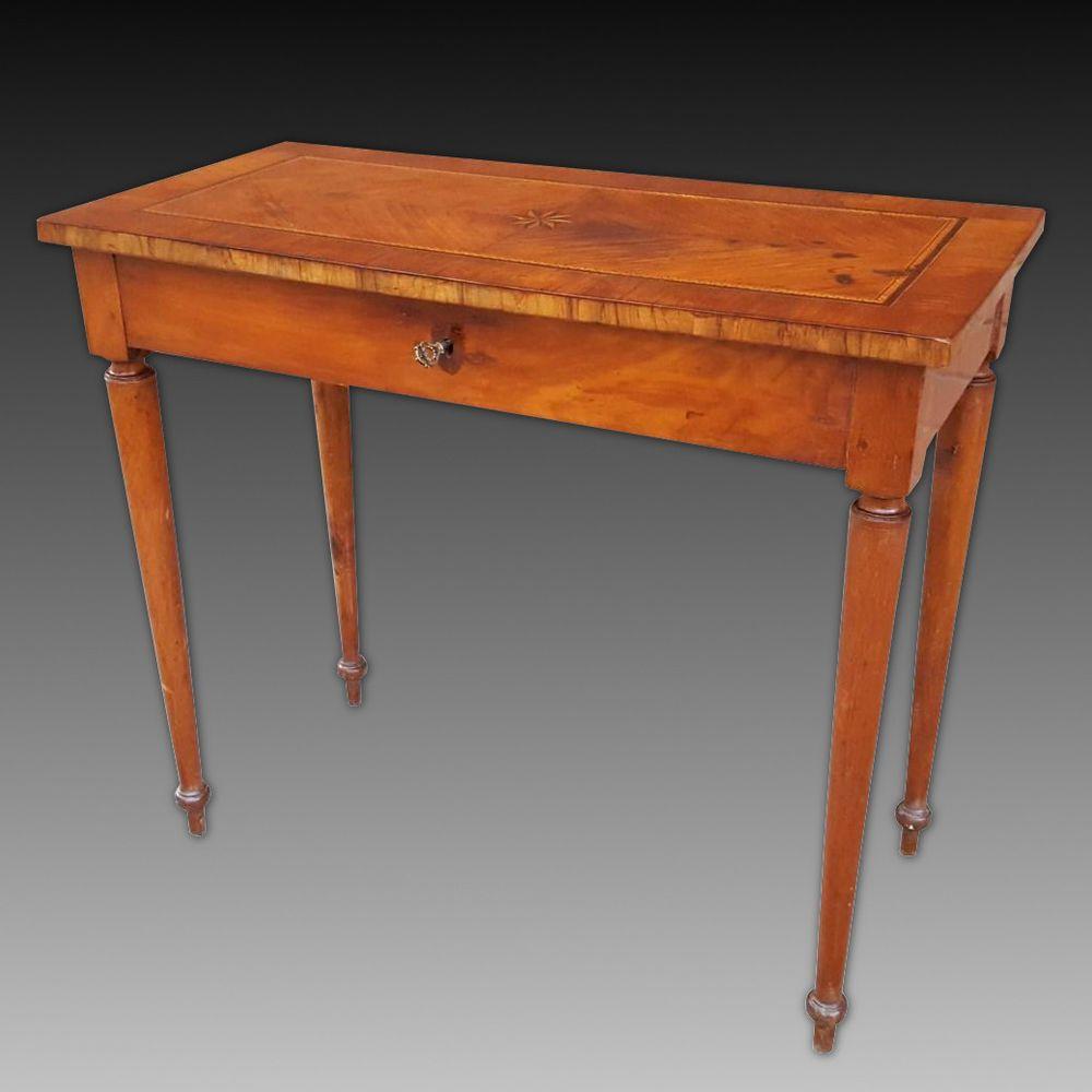 Antike Tisch Schreibtisch Konsole Louis Xvi Kirsch Italien 1790 Ca Tisch Schreibtisch Konsole