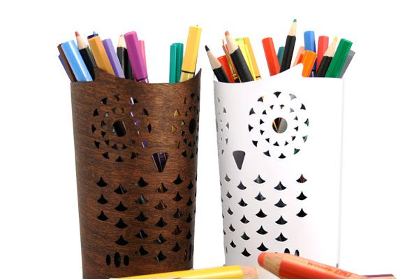 Fill This Owl Pencil Holder With Art Supplies For Your