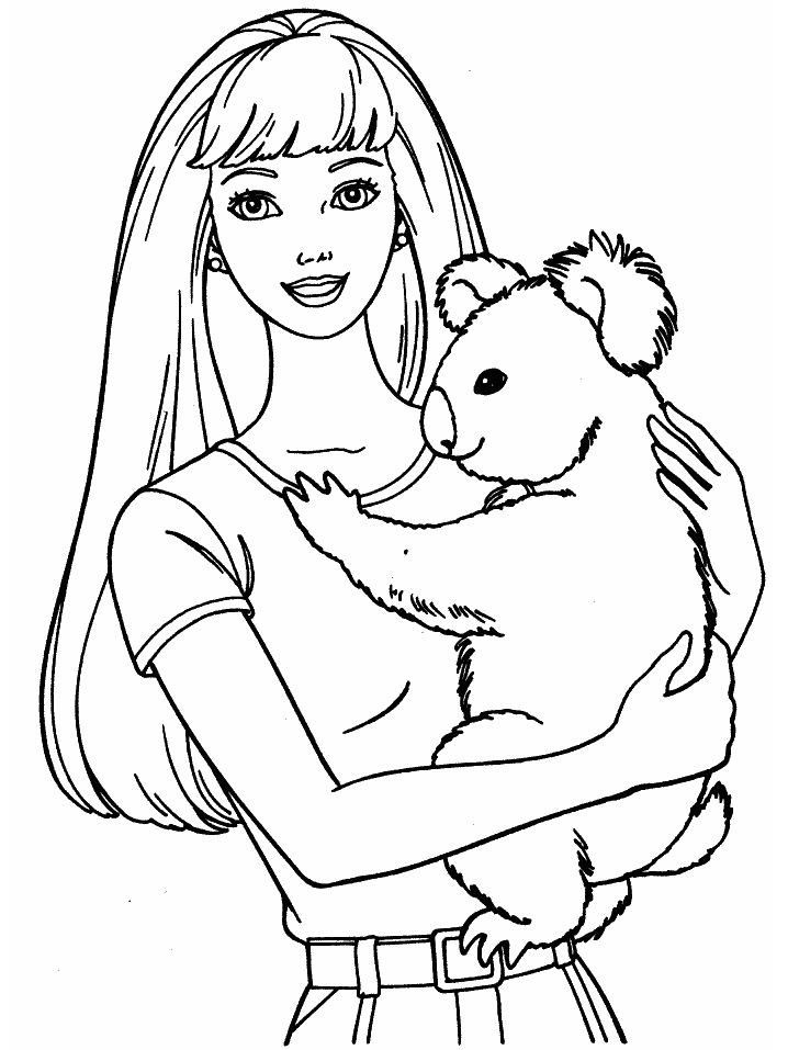 Nice Barbie Pictures To Print And Color Special Picture Puppy Coloring Pages Barbie Coloring Pages Bear Coloring Pages