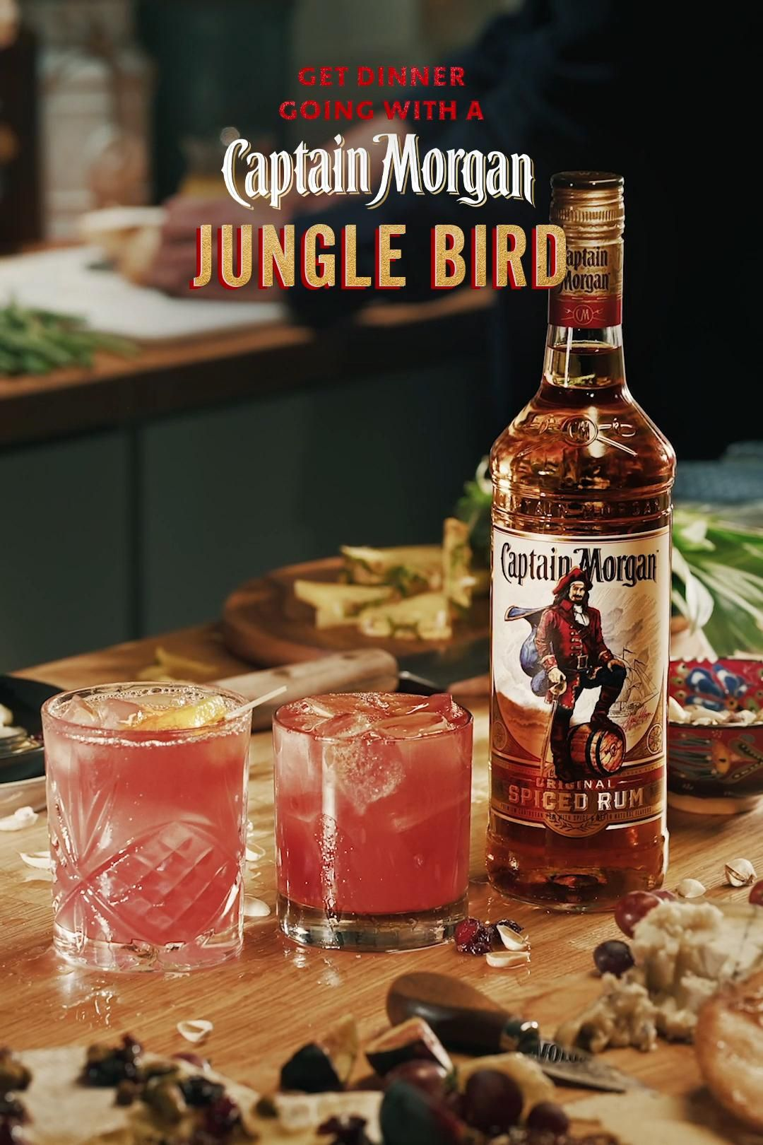 A Little Sweet A Little Bitter And Little Spiced Our Jungle Bird Cocktail Is Like A Good Playlist Video Alcohol Drink Recipes Boozy Drinks Cocktail Drinks Recipes