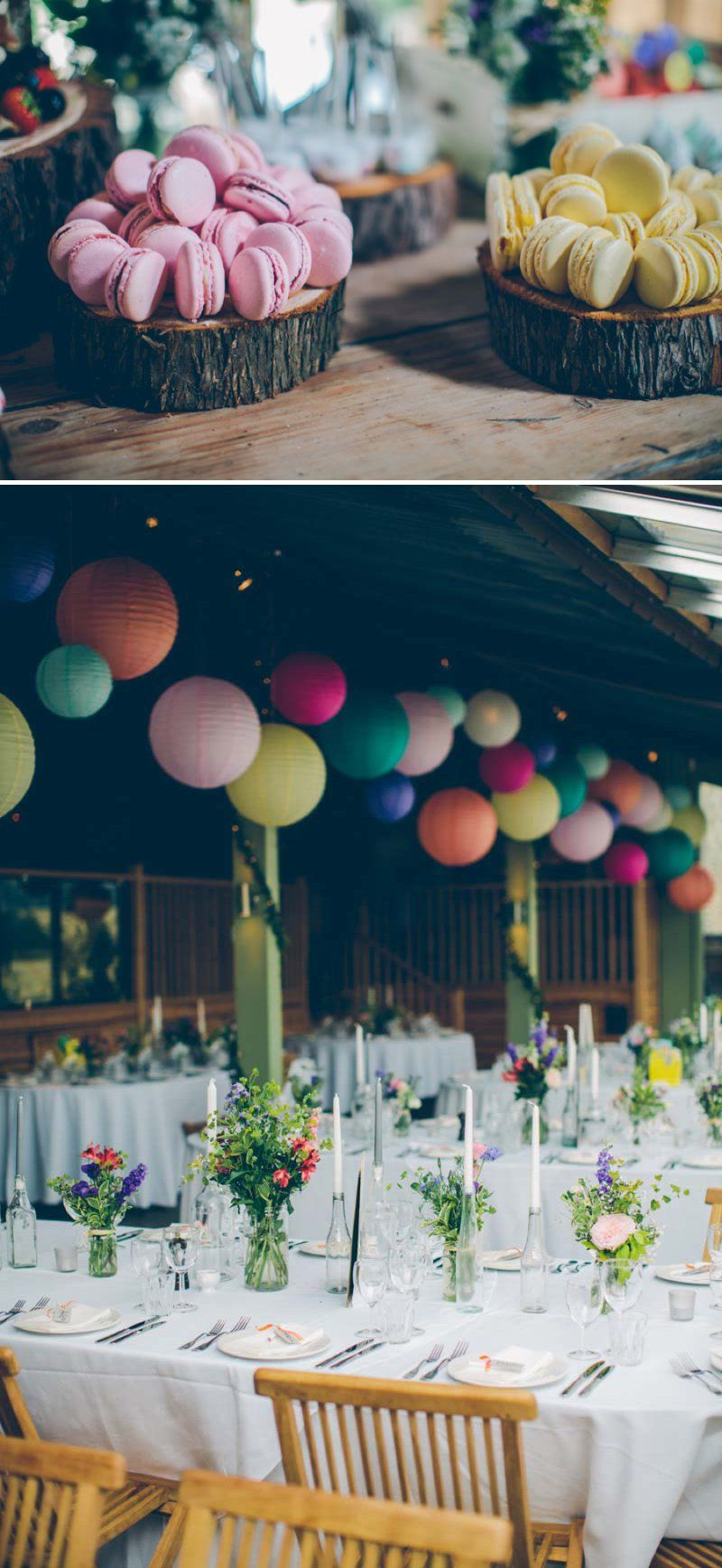 Colourful Contemporary Wedding At Cripps Stone Barn In The Cotswolds With Bride In Charlie Brear Gown And Gold Jimmy Choo Peeptoes And Groom...