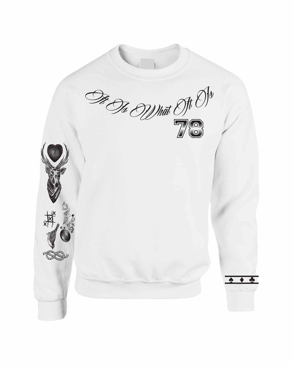 LOUIS TOMLINSON body Tattoo Sweatshirt One Direction
