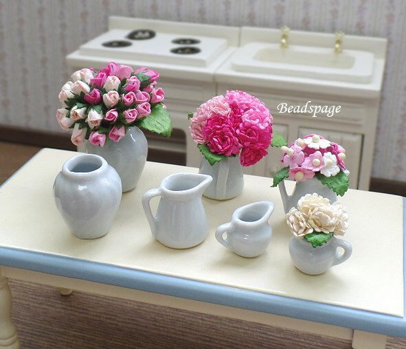 Miniature Flower Vase Water Jar Dollhouse Decoration Diy Craft