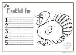 im thankful coloring sheetplacemat thanksgiving