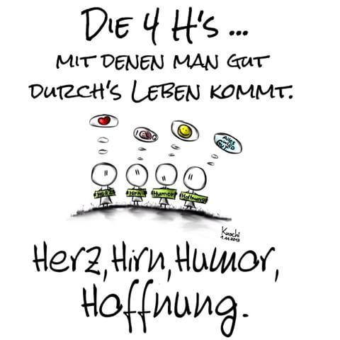 Die 4 H's mit denen man #gut durchs #leben kommt  #Herz #Hirn