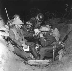 WW1. British troops and their smokes on the Western Front. blog.maryevans.com