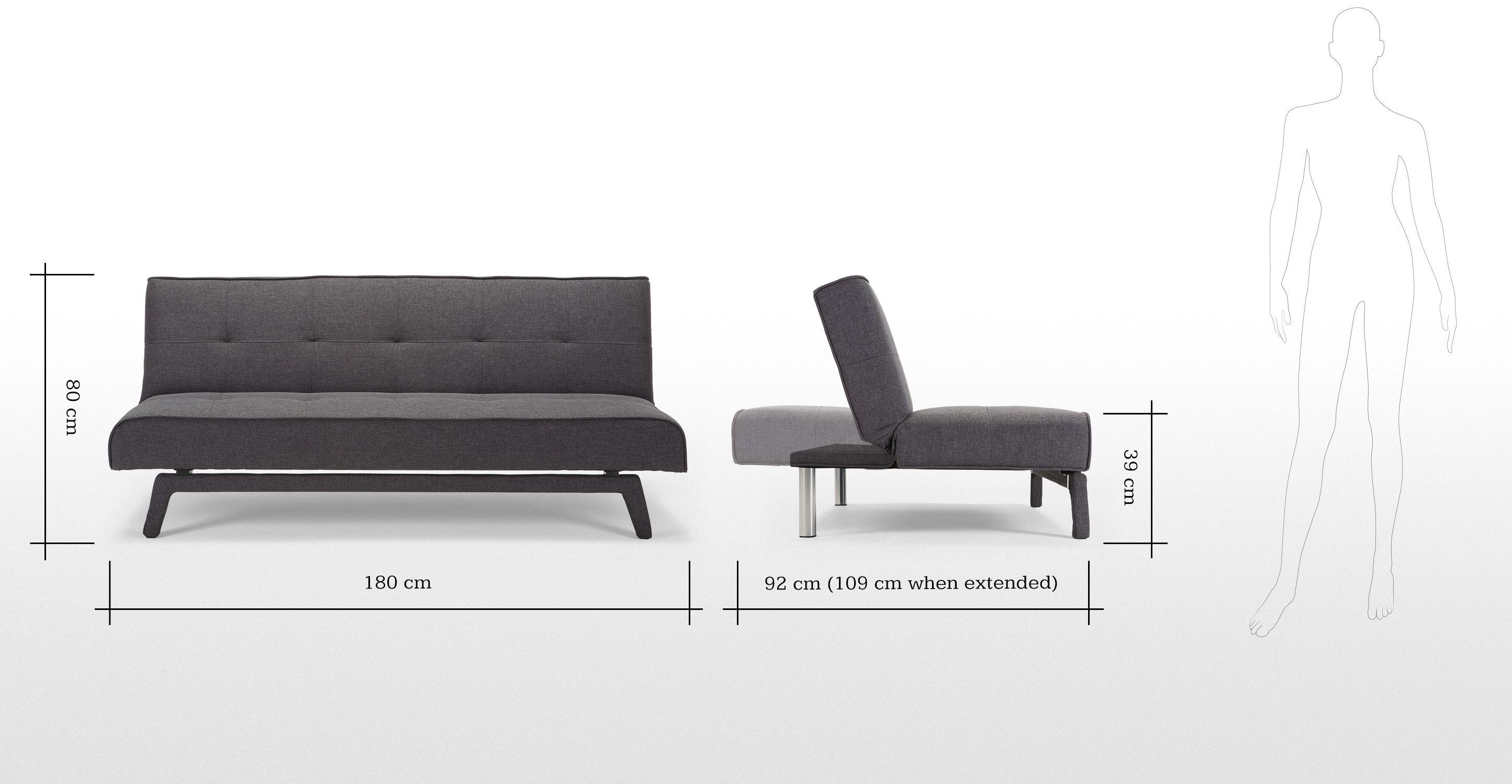 Yoko Click Clack Sofa Bed Cygnet Grey Mebel