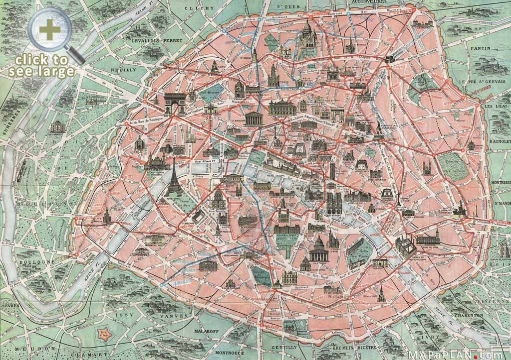 Paris Top Tourist Attractions Map Famous Historical Spots Ill - Map of paris and tourist attractions