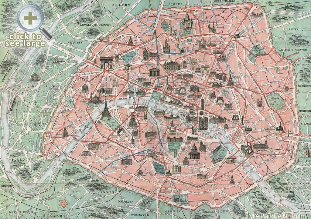 paris top tourist attractions map famous historical spots