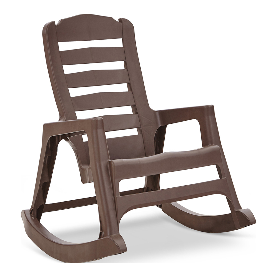 Adams USA Brown Stackable Plastic Rocking Chair(s) with