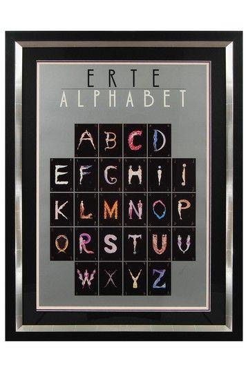 Alphabet Fine Art Poster on Paper by Erte - 33 x 44 by Gatsby: Erte Fine Art on @HauteLook