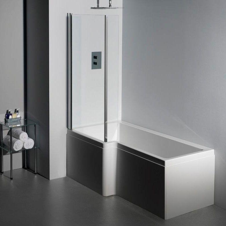 Carron Quantum L Shape Shower Bath 1600mm X 700 850mm Left Handed