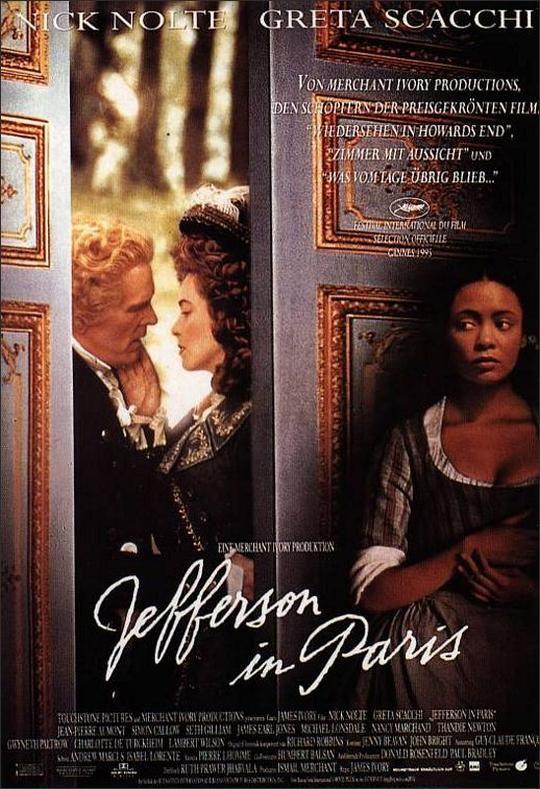 Jefferson In Paris Movie Poster 1995 Paris Movie Paris Movie Posters