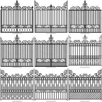 Hot Fancy Schmancy Wrought Iron Fence Texture Set With Images
