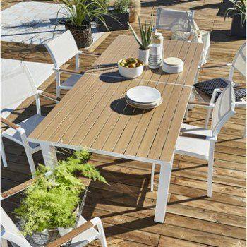 Salon De Jardin Port Torres Blanc 6 Personnes Leroy Merlin Muebles Terraza Cosas Para Comprar
