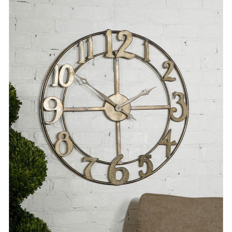 Delevan Clock Uttermost Wall Mounted Clock Clocks Home Decor