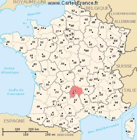 Cantal Map Cities And Data Of The Departement Of Cantal 15 Frankrijk Vakantie Provence Frankrijk