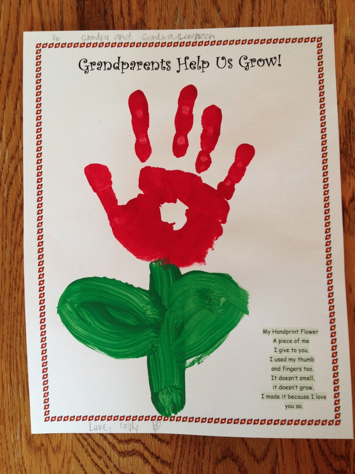 Good Grandparents Day Craft Ideas For Kids Part - 9: GrandMotheru0027s Day Crafts | Grandparents Day