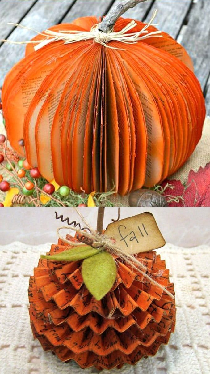 20 Easy  Grogeous DIY Pumpkin Decorations Mostly Free 20 best DIY pumpkin decorations for Thanksgiving Halloween  fall How to upcycle cans jars paper fabric or wood to ma...