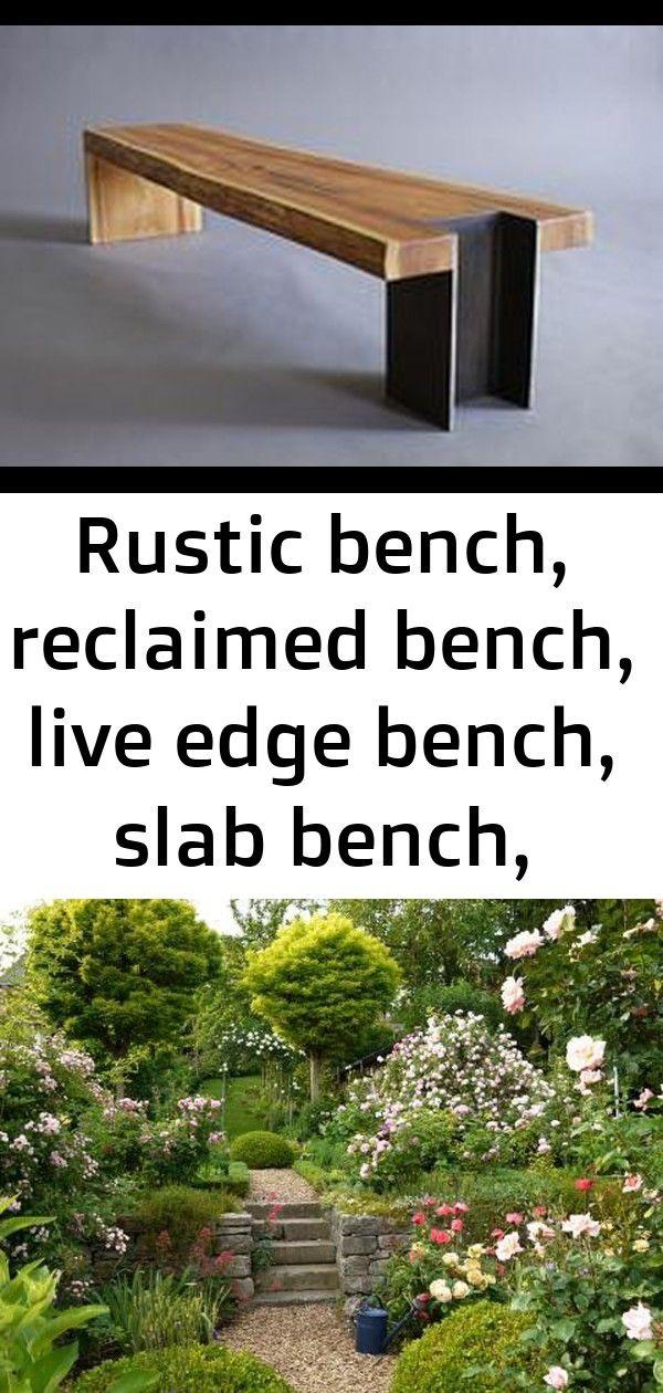 Rustic bench, reclaimed bench, live edge bench, slab bench, modern bench, 10x42 bench, custom benc 6 #innenhofgestaltung