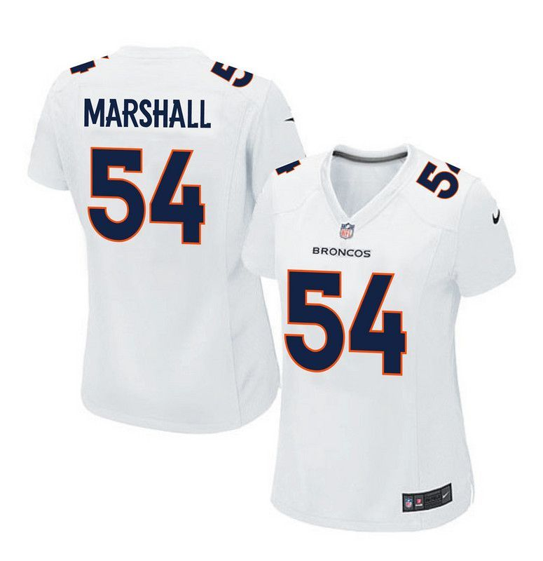 2016 Women Denver Broncos 54 Marshall white jerseyscheap nfl jerseys ... 33fb62e5c3e2