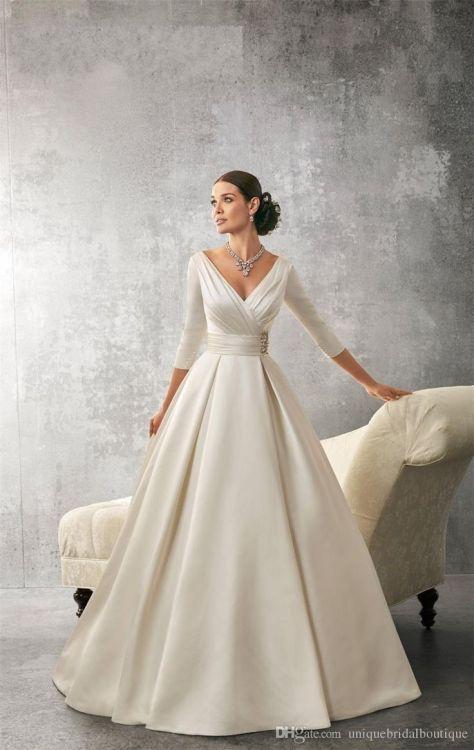 Wedding Dresses Paradise Wedding Dresses 2016 Ronald Joyce With Deep V Neck In 2020 Wedding Dresses Designer Wedding Dresses Bridal Gowns