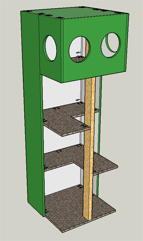 Build Your Own Cat Tree Touse Get The Free Diy Plans At Buildsomething Com