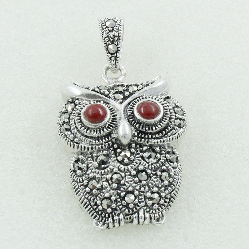 Details about red onyx cubic zirconia stone owl shaped design 925 details about red onyx cubic zirconia stone owl shaped design 925 sterling silver pendant aloadofball Choice Image