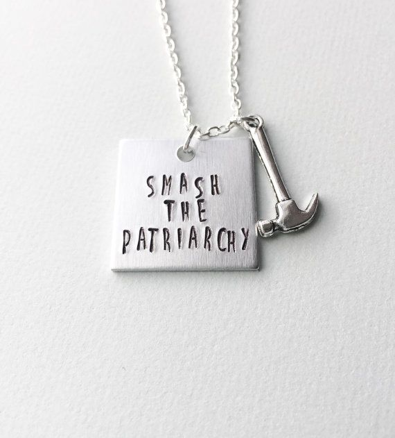 Smash the patriarchy feminist necklace feminist by SwimmingUnicorn