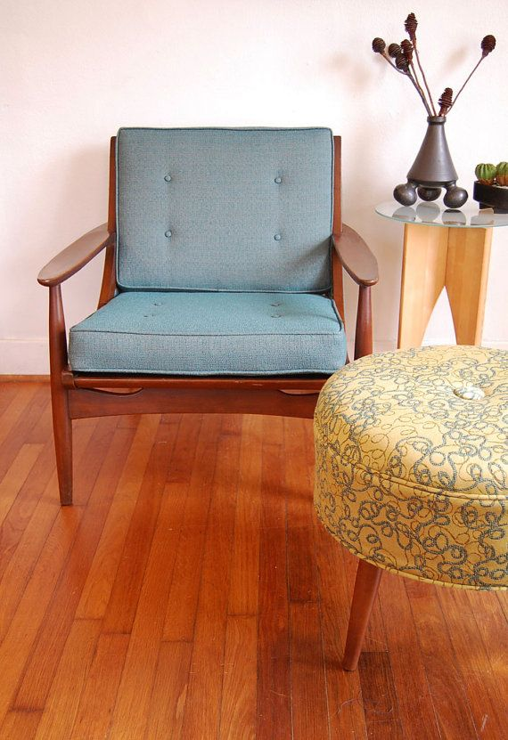 SALE Ottoman/Footstool Mid Century Modern Inspired by ljindustries