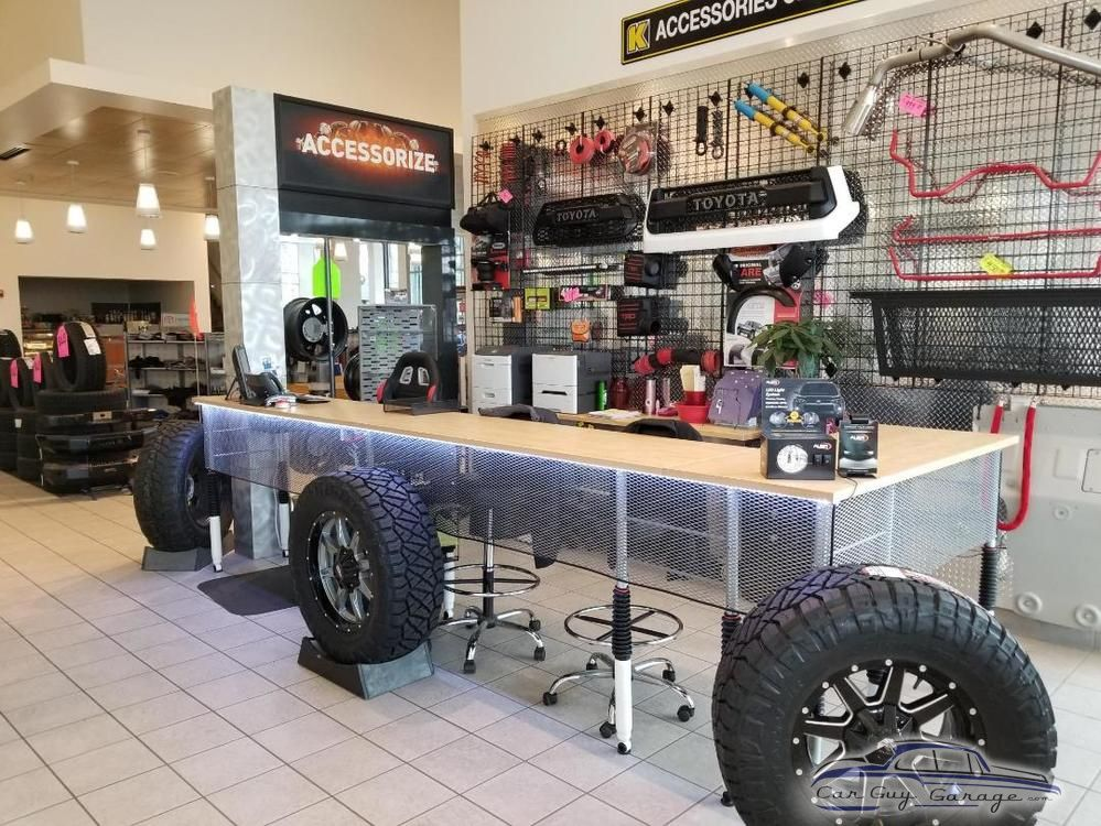 Kendall Toyota Of Bend Showing Shop Stools Car Guys Shop Stool Garage Storage Cabinets