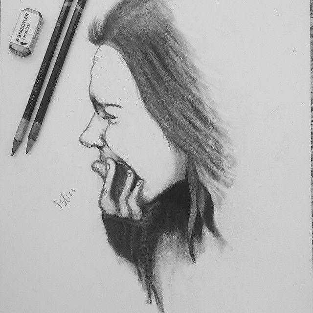 Depressed Girl Drawing | Drawing Images | Draw Something ...