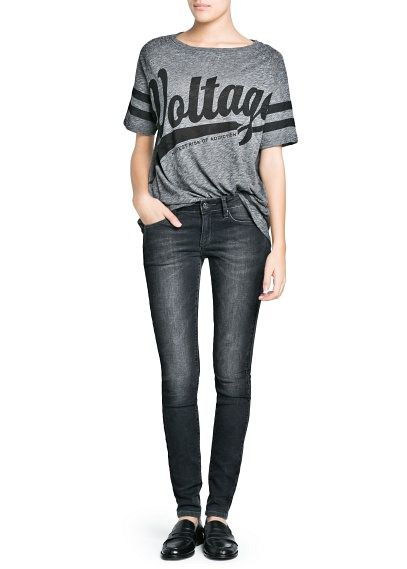 Jeans super slim Olivia grises