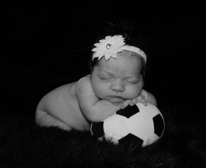 Pin By Melja Seibert Watkins On Newborn Pics Soccer Baby Newborn Pictures Girl Newborn Pictures