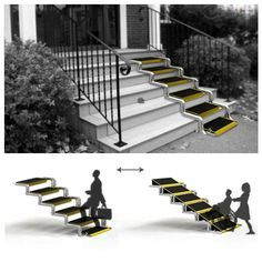 This is so interesting! In terms of Universal Access, a wheelchair ramp that both people with disabilities and without disabilities can use is perfect.