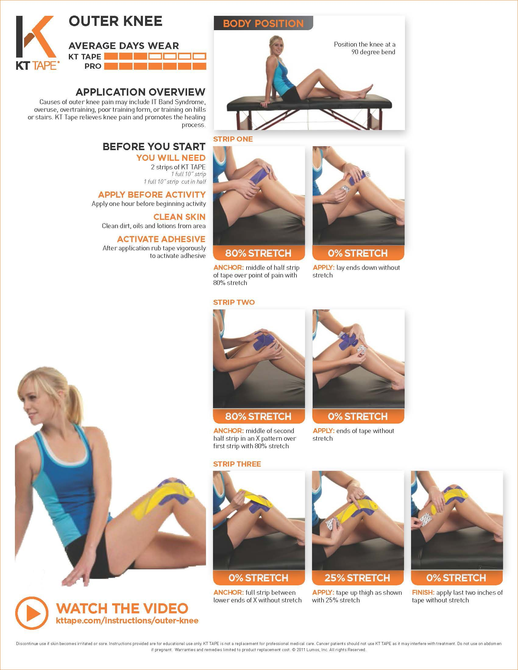Outer Knee Pain - KT Tape