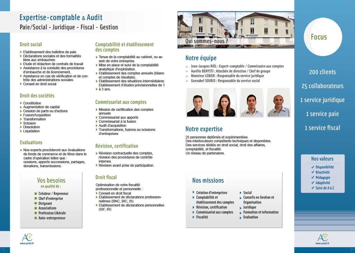Plaquette Commerciale Alter Conseil Interieur Plaquette Commerciale Expert Comptable Comptabilite