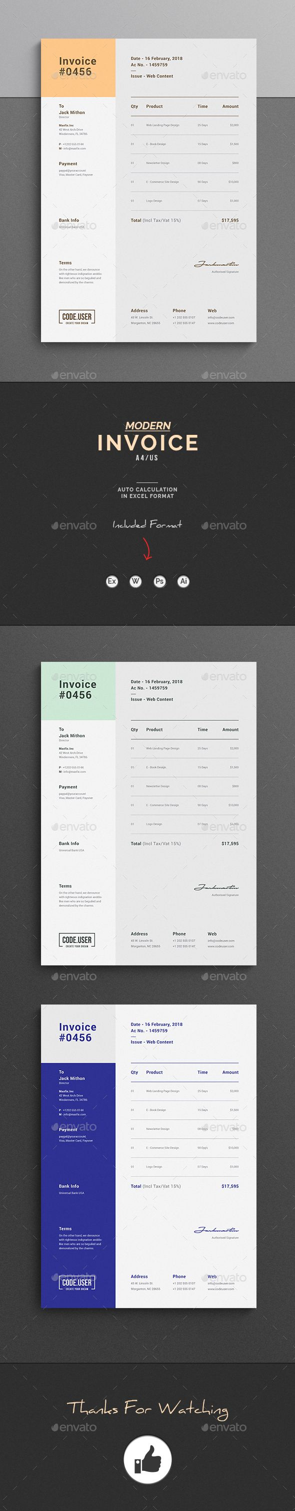 Invoice  Template Font Logo And Logos
