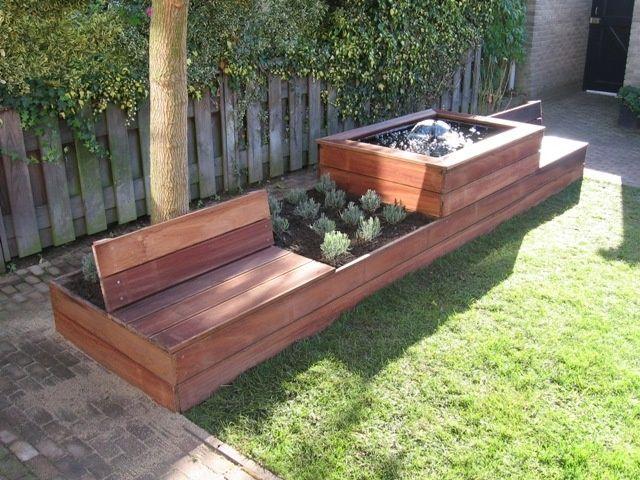Combinatie tuinbank bloembak google zoeken garden pinterest tuinbank zoeken en google - Kleine designtuin ...