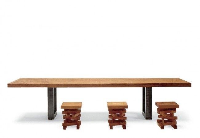 Riva 1920 Table Auckland en bois de Kaori Tables de salle à manger
