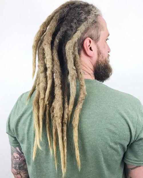 Thick Long Blonde Dreads For Men