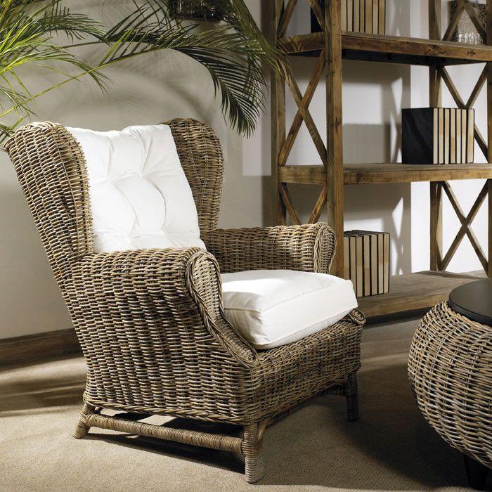 Padmau0027s Plantation Kubu Wingback Chair